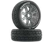 DuraTrax Bandito 1/8 Buggy PreMounted Tire w/ Spoke Wheels (Chrome) (2) (C3) | relatedproducts