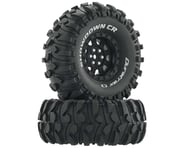 "DuraTrax Showdown CR C3 Mounted 1.9"" Crawler Tires (Black) (2) 