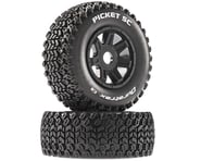 DuraTrax Picket SC Mounted Soft Tires, Black 17mm Hex (2) | relatedproducts