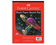 """Faber-Castell Black Paper Pad 9"""" X 12"""" 
