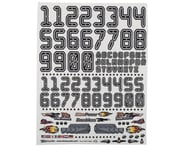 "Firebrand RC Numbers Decal Sheet (Black) (8.5x11"") 