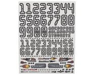 "Firebrand RC Numbers Decal Sheet (White) (8.5x11"") 