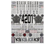 "Firebrand RC State Trooper Decal Sheet (8.5x11"") 
