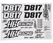 HB Racing D817 Sticker sheet | relatedproducts