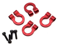 Hot Racing 1/10 Aluminum Tow Shackle D-Rings (4) (Red) | alsopurchased