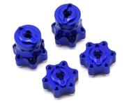 Hot Racing Axial Yeti Aluminum One-Piece Wheel Hub Set (Blue) (4) | relatedproducts