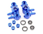 Team Integy Evo3 Aluminum Steering Block Set (Blue) | relatedproducts