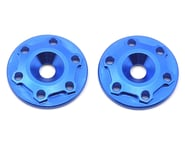"JConcepts Aluminum B6/B6D ""Finnisher"" Wing Buttons (Blue) (2) 