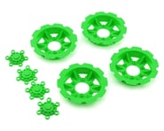 "JConcepts ""Tracker"" Monster Truck Wheel Mock Beadlock Rings (Green) (4) 