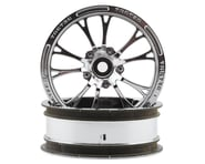 "JConcepts Tactic Street Eliminator 2.2"" Front Drag Racing Wheels (2) (Chrome) 
