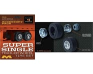 Moebius Model 1/25 Super Single Trailer Wheel & Tire Set (4) | relatedproducts