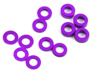 ProTek RC Aluminum Ball Stud Washer Set (Purple) (12) (0.5mm, 1.0mm & 2.0mm) | relatedproducts