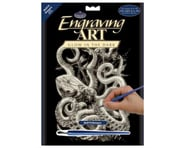 Royal Brush Manufacturing Glow/Dark Engraving Art Octopus | relatedproducts
