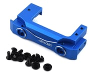 Samix Enduro Aluminum Short Front Bumper Mount w/Adjustable Servo Mount (Blue) | alsopurchased