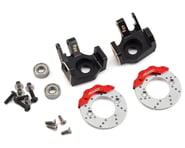Samix SCX10 II Brass Heavy Duty Steering Knuckle w/Brake Rotor (Black) (2) | relatedproducts