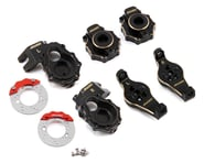 Samix TRX-4 Brass Steering Knuckle, C-Hub, Portal Cover & Scale Brake Rotor Set | alsopurchased