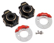 Samix Traxxas TRX-4 Brass Portal Cover & Scale Brake Rotor Set | relatedproducts