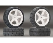 Tamiya 5-Spoke Wheel w/Cemented Tire 24mm (4) | relatedproducts