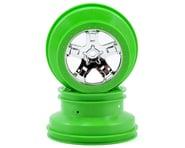 Traxxas SCT Beadlock Wheels (Chrome/Green) (2) | relatedproducts