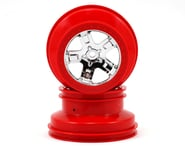 Traxxas 12mm Hex Dual Profile Short Course Wheels (Chrome/Red) (2) (Slash Front) | relatedproducts