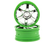 Traxxas Volk Racing TE37 Wheel Set (2) (Chrome/Green) | relatedproducts