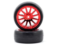 Traxxas LaTrax Pre-Mounted Slick Tires & 12-Spoke Wheels (Red Chrome) (2) | alsopurchased