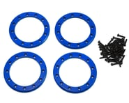 """Traxxas Aluminum 2.2"""" Beadlock Rings Blue with 2x10 CS TRA8168X 