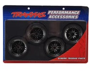 "Traxxas 4-Tec 2.0 1.9"" Front & Rear Pre-Mounted Drift Tires (Black Chrome) 
