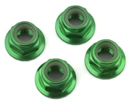 Traxxas 5mm Aluminum Flanged Nylon Locking Nuts (Green) (4) | relatedproducts