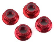 Traxxas 5mm Aluminum Flanged Nylon Locking Nuts (Red) (4) | alsopurchased