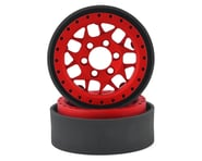 Vanquish Products KMC XD127 Bully 1.9 Beadlock Crawler Wheels (Red) (2) | relatedproducts