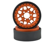 Vanquish Products KMC XD127 Bully 1.9 Beadlock Crawler Wheels (Orange) (2) | relatedproducts