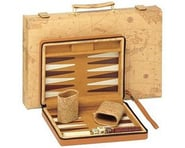 Wood Expressions 21-7309 Tan Map Style Travel Backgammon | relatedproducts