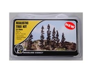 "Woodland Scenics Conifer Tree Kit, 2-1/4""-4"" (24) 