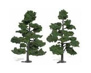 "Woodland Scenics Ready-Made Tree, Medium Green 7-8"" (2) 