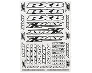 Xray RX8 Sticker Sheet (White) | relatedproducts