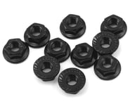 Yeah Racing 4mm Aluminum Serrated Lock Nut (10) (Black) | relatedproducts