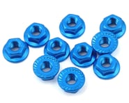 Yeah Racing 4mm Aluminum Serrated Lock Nut (10) (Blue) | alsopurchased