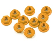 Yeah Racing 4mm Aluminum Serrated Lock Nut (10) (Gold) | alsopurchased