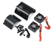 Yeah Racing 1/8 Twin Fan Aluminum Heat Sink w/2 Fans (Black) (40.8mm diameter) | alsopurchased