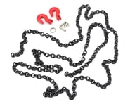 Yeah Racing 96cm 1/10 Crawler Scale Steel Chain Accessory w/Red Hooks (Black) | relatedproducts