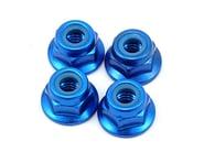 Yokomo 4mm Aluminum Flange Locknut (Blue) (4) | relatedproducts