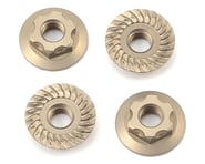 Yokomo 4mm Thin Aluminum Serrated Flanged Nut (4) | relatedproducts