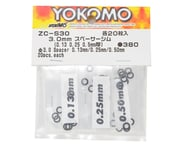 Yokomo 3.0mm Shim Spacer Set (0.13mm, 0.25mm & 0.50mm) | relatedproducts