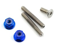 175RC Titanium Lower Arm Stud Kit (Blue) (Kyosho Lazer ZX-6.6)