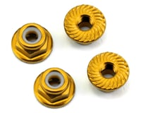 175RC Aluminum 4mm Serrated Locknuts (Gold) | relatedproducts