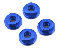 175RC Mini-T 2.0 Serrated Wheel Nuts (4) (Blue)