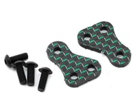 "175RC B6/B6D Carbon ""Money"" +1.5 Steering Block Arms (Green) (2) 
