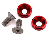 175RC Mini T/B High Load Motor Screws (Red) (2) (Losi Mini-T 2.0)