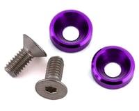 175RC Mini T/B High Load Motor Screws (Purple) (2) (Losi Mini-T 2.0)